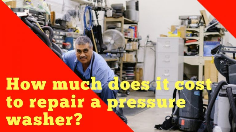 How much does it cost to repair a pressure washer