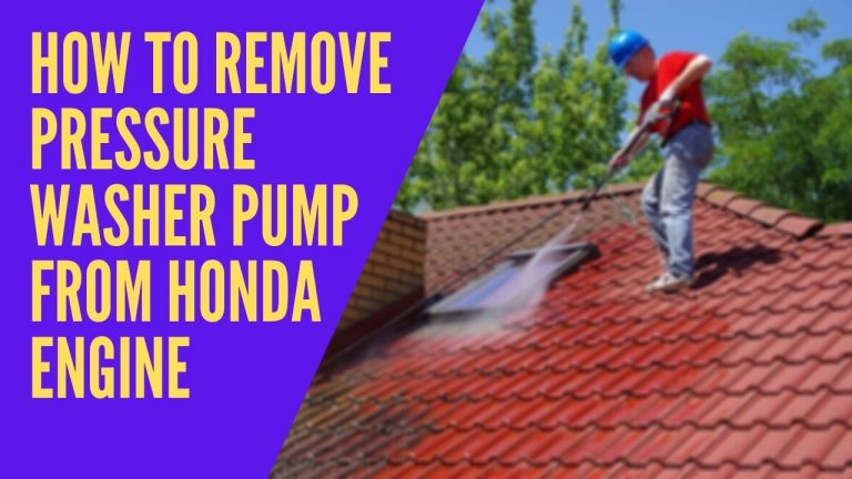 How to Remove Pressure Washer Pump from Honda Engine