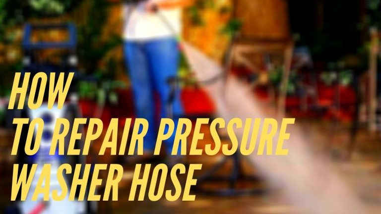 How to repair pressure washer hose