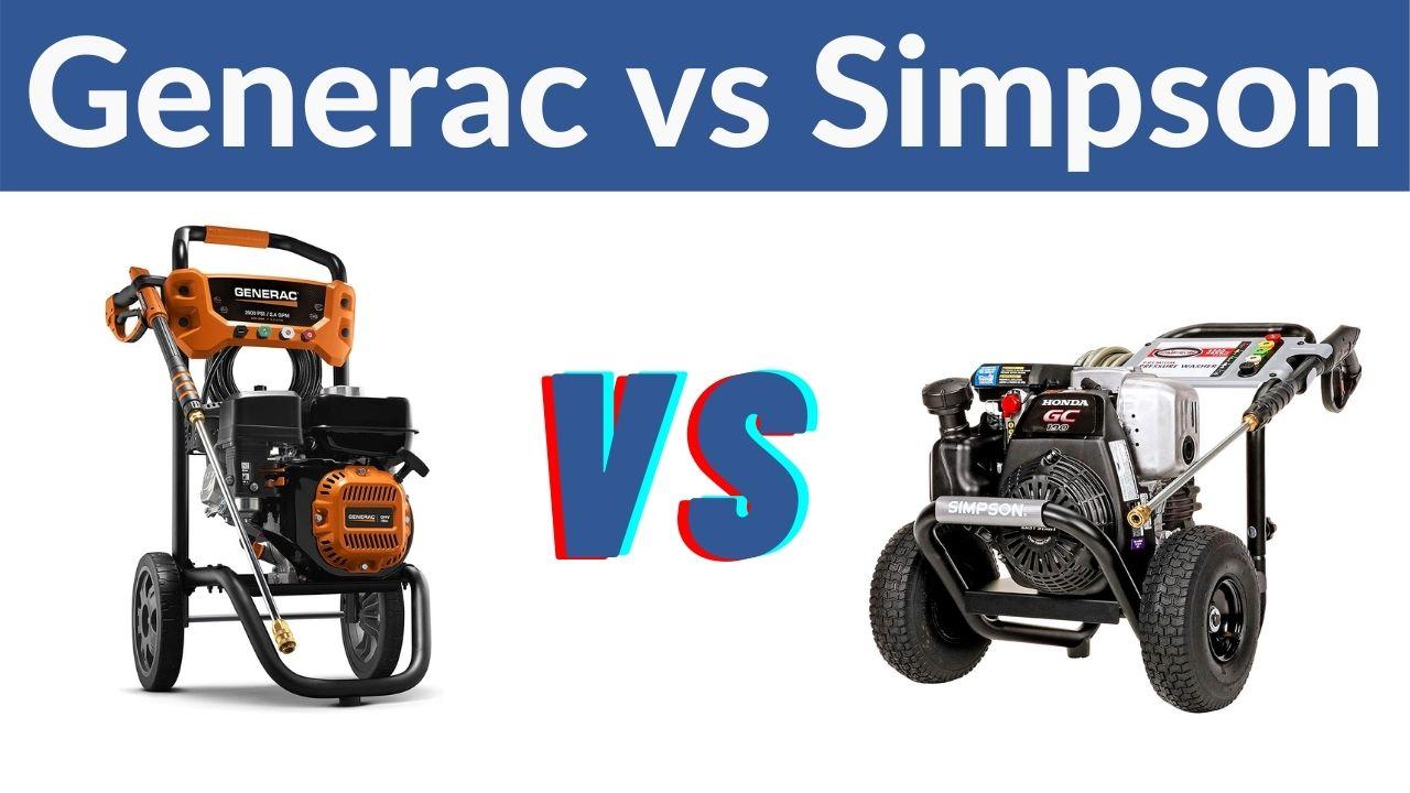 Generac vs Simpson Pressure Washer