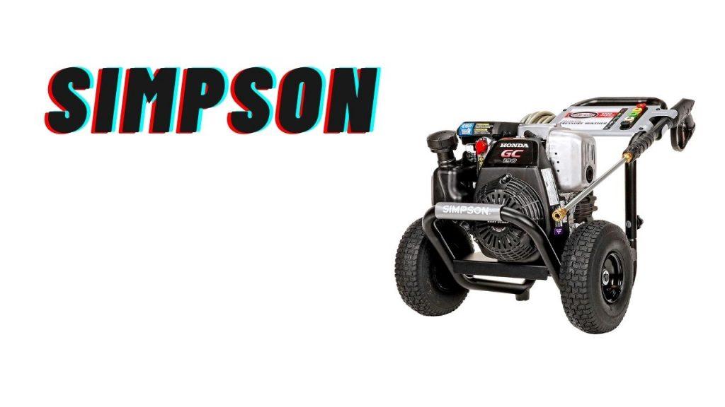 simpson pressure washer